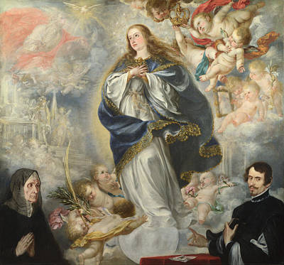 Valdes Digital Art - The Immaculate Conception With Two Donors by Juan de Valdes Leal