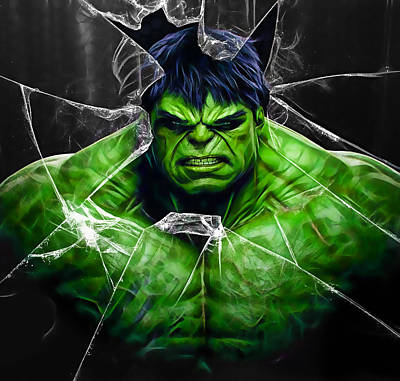 Incredible Hulk Mixed Media - The Incredible Hulk Collection by Marvin Blaine