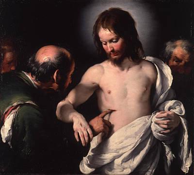 Incredulity Digital Art - The Incredulity Of Saint Thomas by Bernardo Strozzi