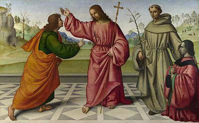 Incredulity Digital Art - The Incredulity Of Saint Thomas by Giovanni Battista da Faenza