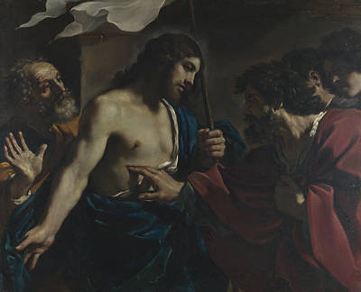 Incredulity Digital Art - The Incredulity Of Saint Thomas by Guercino