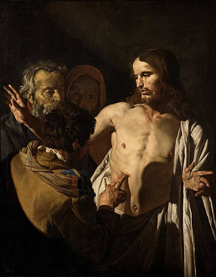 Painting - The Incredulity Of Saint Thomas by Matthias Stom