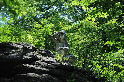 Wissahickon Creek Photograph - The Indian Along The Wissahickon Creek by Bill Cannon