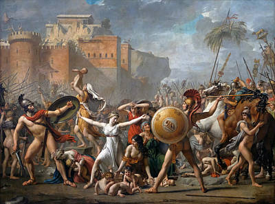 The Intervention Of The Sabine Women Art Print by Jacques-Louis David