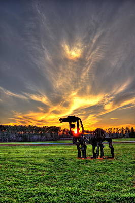 Photograph - The Iron Horse Sunset 2 by Reid Callaway