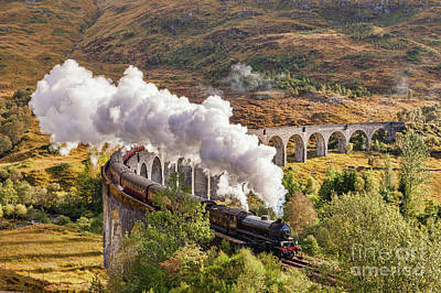 Photograph - The Jacobite, Glenfinnan Viaduct by Colin and Linda McKie