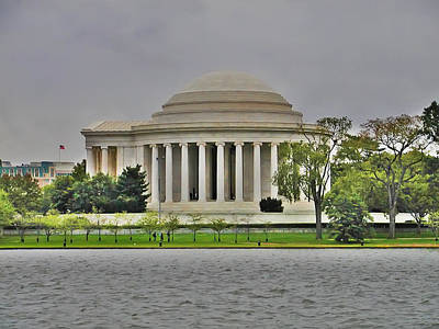 Jefferson Memorial Digital Art - The Jefferson Memorial by Bill Cannon