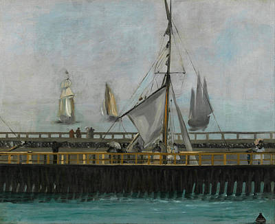 Manet Painting - The Jetty Of Boulogne-sur-mer by Edouard Manet