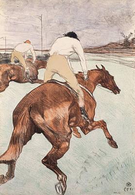 Race Painting - The Jockey by Henri de Toulouse-Lautrec