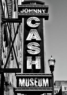Tennessee Landmark Photograph - The Johnny Cash Museum - Nashville by Paul Brennan