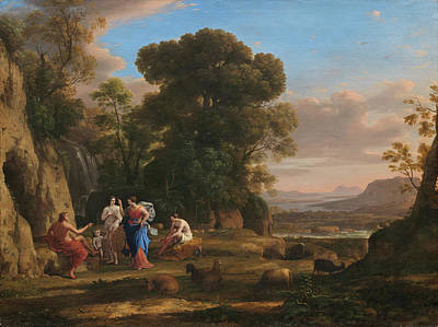 Judgment Painting - The Judgment Of Paris by Claude Lorrain