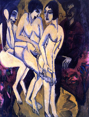 Classic Painting - The Judgment Of Paris by Ernst Ludwig Kirchner