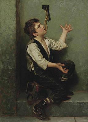 Juggler Painting - The Juggler by John George Brown