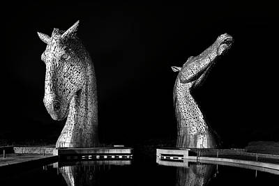 Photograph - The Kelpies by Alex Saunders