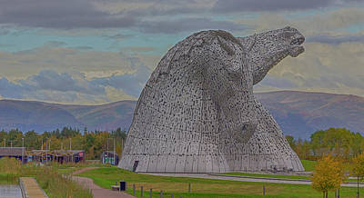 Kelpie Photograph - The Kelpies. by Angela Aird