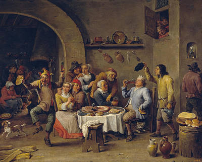 Drink Painting - The King Drinks by David Teniers the Younger