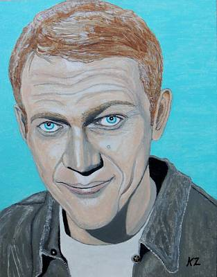 Painting - The King Of Cool.steve Mcqueen. by Ken Zabel