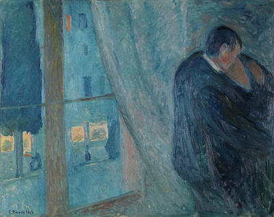 After Munch Painting - The Kiss by Edvard Munch