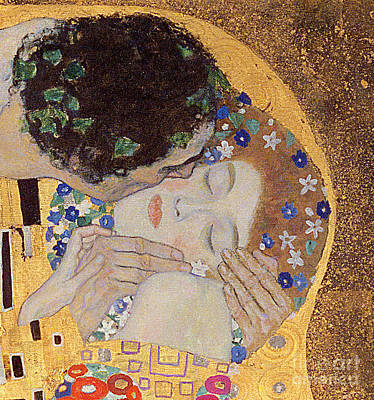 The Painting - The Kiss by Gustav Klimt