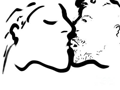 Digital Art - The Kiss by Paul Ramnora