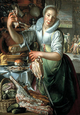 Painting - The Kitchen Maid by Joachim Wtewael