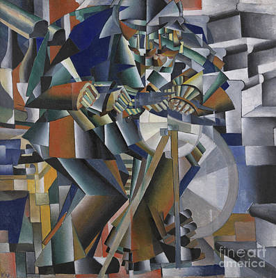 Kinetic Painting - The Knife Grinder Or Principle Of Glittering by Kazimir Malevich