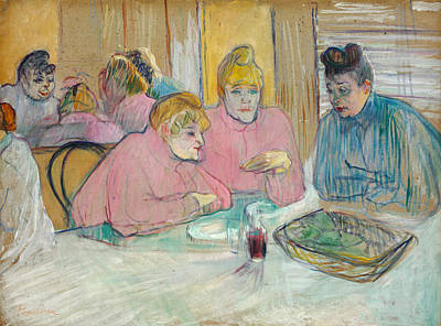 Dining Painting - The Ladies In The Dining Room by Henri de Toulouse-Lautrec