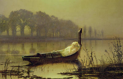 Arthurian Painting - The Lady Of Shalott by John Atkinson Grimshaw