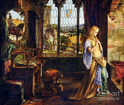 Man On Horse Painting - The Lady Of Shalott  by MotionAge Designs