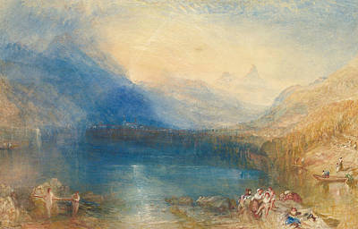 Painting - The Lake Of Zug by Joseph Mallord William Turner