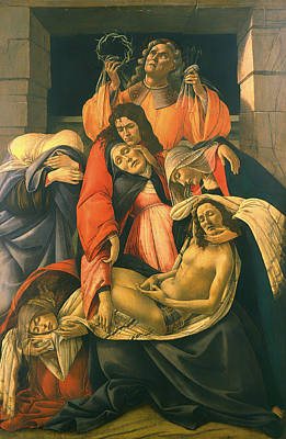 Christian Artwork Painting - The Lamentation Over The Dead Christ by Mountain Dreams