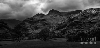 Photograph - The Langdale Pikes by John Collier