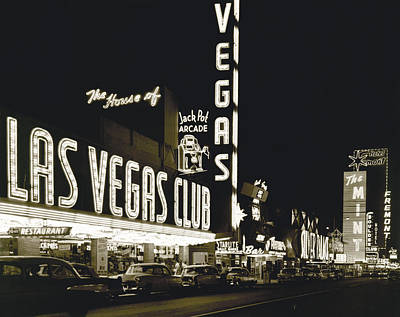 The Western Hotel Photograph - The Las Vegas Strip by Underwood Archives