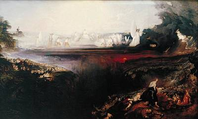 Tate Gallery Painting - The Last Judgement  by John Martin