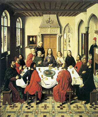 Religious Art Painting - The Last Supper by Dieric Bouts