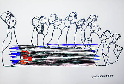 Painting - The Last Supper by Gloria Ssali