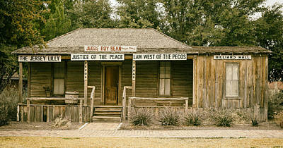 Judge Roy Bean Photograph - The Law West Of The Pecos by Mountain Dreams
