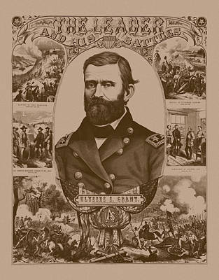 The Leader And His Battles - General Grant Art Print by War Is Hell Store
