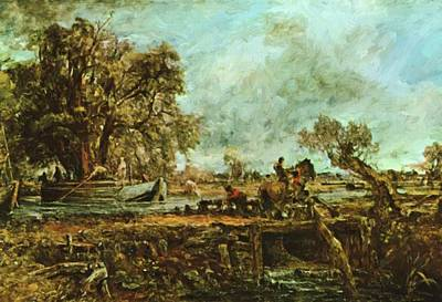 Painting - The Leaping Horse  by Constable John