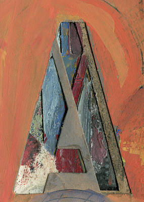 Mixed Media - The Letter A by Robert Cattan