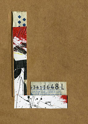 Mixed Media - The Letter L by Robert Cattan