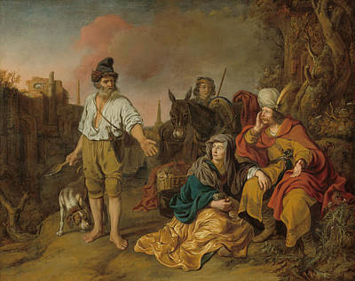 Painting - The Levite At Gibeah by Gerbrand van den Eeckhout