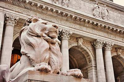 Photograph - The Public Library Lions  by JAMART Photography