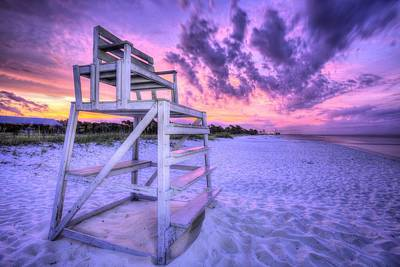 Photograph - The Lifeguard Stand by JC Findley