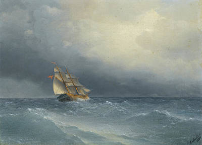 Painting - The Lifting Storm by Ivan Konstantinovich Aivazovsky