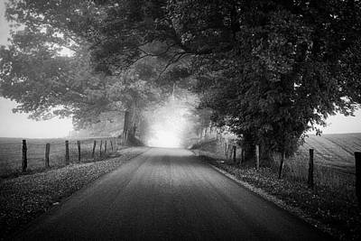 Monochrome Photograph - The Light Ahead by Andrew Soundarajan