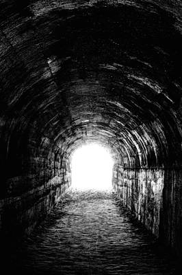 Lights In Tunnel Photograph - The Light At The End by JC Findley