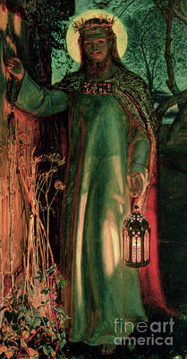 Wooden Painting - The Light Of The World by William Holman Hunt