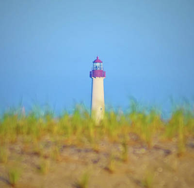 The Lighthouse At Cape May Art Print by Bill Cannon