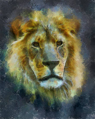 Digital Art - The Lion by Ernie Echols